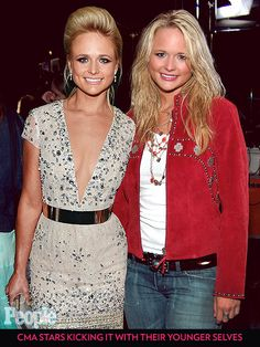 CMA Stars Kicking It with Their Younger Selves | MIRANDA LAMBERT  | Dressed up or dressed down, Lambert always has a stunning smile to match her outfit.