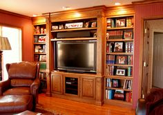 Entertainment Centers in Maple, Cherry, & Oak