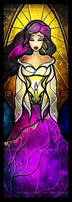 Esmerelda stained glass