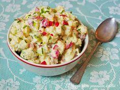 Peggyn pieni punainen keittiö: Raikas perunasalaatti Potato Salad, Potatoes, Ethnic Recipes, Food, Meal, Potato, Eten, Meals