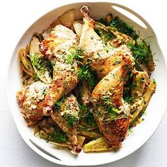 quick braised chicken with caramelized fennel and endive quick braised ...