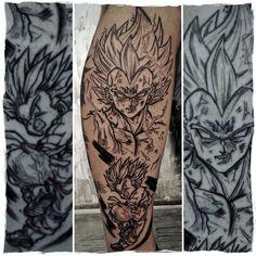 Vegeta Tattoo. @mr_catatafish_tattoo on Instagram, Spezialist für Dragon Ball Tattoos, Anime Tattoos und Sketchy Tattoos Manga Tattoo, Tattoo On, Sketchy Tattoo, Armin, Saga, Dragon Ball, All About Time, Instagram