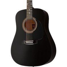 Rogue RA-090 Dreadnought Guitar Black - http://www.guitarstore.wupples.com/rogue-ra-090-dreadnought-acoustic-guitar-black/