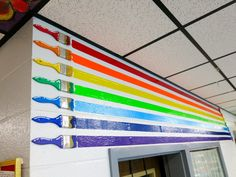 Cassie Stephens: In the Art Room: Roy G. Biv Decor!