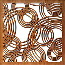 Laser cut wood window coverings.  Can include privacy backing that allows light to pass through.  Would love this to cover glassblock kitchen window.