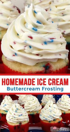 Homemade Ice Cream Buttercream Frosting Melted Ice Cream Sprinkles our creamy Best Buttercream Frosting a Fun Summer Frosting your family will love Pin this delicious. Homemade Buttercream Frosting, Frosting Recipes, Cupcake Recipes, Cupcake Cakes, Dessert Recipes, Desserts, Ice Cream Cake Frosting Recipe, Ice Cream Cupcakes, Cookie Frosting