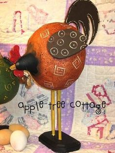 pRIm gOUrD chICkEN aND rOOsTEr by appletreecottage on Etsy