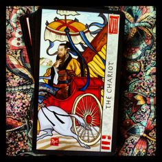 The Chariot from the Feng Shui Tarot.