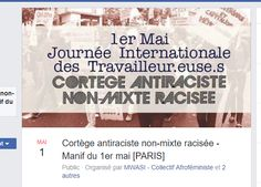 Paris : un cortège interdit aux Blancs lors de la manifestation unitaire syndicale du 1er mai