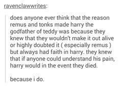 Remus and Tonks's reasoning: