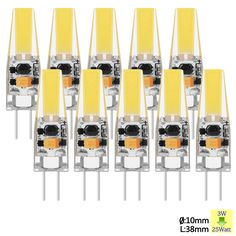 4X 10X Sunix G4 LED 3W AC DC 12V COB lamp bulb Silicone Crystal Light Dimmable