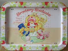 Strawberry Shortcake Vintage 1981 Metal Folding TV Tray American Greetings | eBay