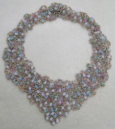 "Beaded ""Sea Collar"" necklace by Sally Shore. http://sallyshorebijoux.artspan.com/home"