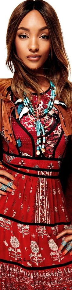 Boho Glam - Jourdan Dunn for Vogue  - Imagery by Giampaol Sgura