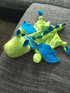 """Genäht nach der Nähanleitung """"Schnuffeltuch HippoDrache Felix"""". Ich finde ihn sooo süß"""