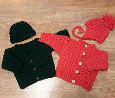 Ravelry: Peyton Baby Cardigan & Hat pattern by michelle stalker Baby Knitting Free, Baby Cardigan Knitting Pattern Free, Baby Boy Knitting Patterns, Baby Patterns, Cardigan Pattern, Crochet Patterns, Crochet Baby Clothes, Crochet Baby Hats, Knitted Baby