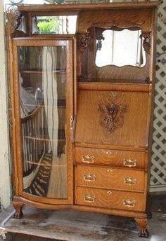 Desk vintage bookcase