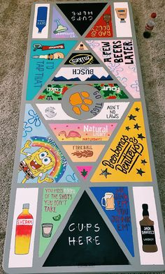 About Beer pong tabl . Information about Beer pong table! Pin You can ea - Custom Beer Pong Tables, Beer Table, Diy Table, Drinking Games For Parties, Drinking Board Games, Cooler Painting, Diys, Diy Projects, Diy Crafts