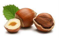 Informação Nutricional da Avelã: Calorias, gorduras totais, saturadas, colesterol, sódio, carboidratos, fibras, açúcar, proteínas, zinco, fósforo, cálcio