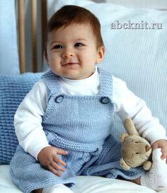 Комбинезон для малыша 6-9 месяцев | Вязание спицами и крючком – Азбука вязания