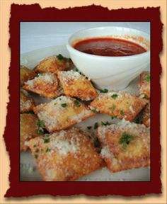 Another St. Louis classic - Toasted Ravioli - on almost every menu in town.  Growing up there, I didn't know ravioli was made any other way!  It is delicious!
