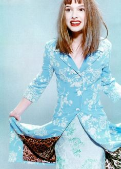 natalie in blue.