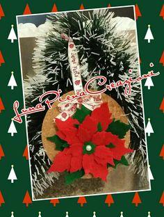 Christmas Poinsettia - Stella di Natale Follow me on Facebook : Luna Piena creazioni