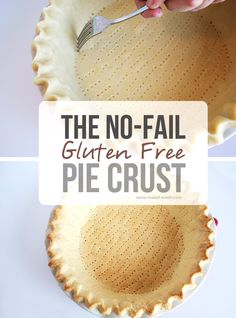 The No-Fail GLUTEN FREE Pie Crust...that's amazingly DELICIOUS! (yield: 2 large crusts or 3 small) 1/2 cup tapioca flour 1/2 cup cornstarch 1/4 cup potato starch 1 cup rice flour (sweet rice flour if you can find it) 1 rounded tsp xanthan gum 1/2 tsp salt 1 dash sugar 1/2 cup butter 1/2 cup butter flavored Crisco 1 cold egg 1 TBS vinegar 4 TBS ice water