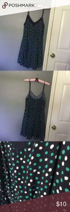 Aeropostale Polka Dot Dress Cute and flirty dress with elastic waistband for comfort (belt optional) and a multi colored polka pattern! Aeropostale Dresses