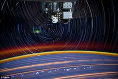 "Astronaut pictures ""star trails"""