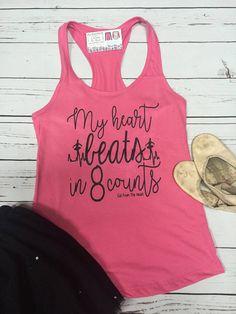 Dance My Heart Beats 8 Counts Cheerleading Dance Gift Dance Moms, Dance Recital, Just Dance, Tap Dance, Dance Team Gifts, Dance Teacher Gifts, Dance Teacher Quotes, Dance Mom Shirts, Cheerleading