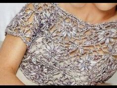 Top Corto Flores Caladas Crochet - YouTube Crochet Stitches, Crochet Patterns, C Tutorials, Beautiful Blouses, Blouse Dress, Chrochet, Crochet Fashion, Yarn Crafts, Knit Crochet