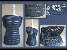 Welcome to: Iedereen kan haken (everybody can crochet), because I have so much fun, I would like to explain to you how easily you can learn a new stitch. Crochet Blouse, Crochet Top, Summer Patterns, Crochet Videos, Crochet Clothes, Knitting, How To Make, Handmade, Diy