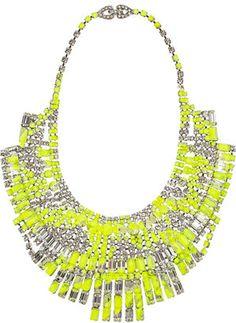 ShopStyle: Tom Binns Slap Dash Swarovski crystal bib necklace
