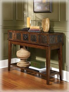Rustic Dark Brown McKenna Sofa Table * Continue to the product at the image link. (Amazon affiliate link)