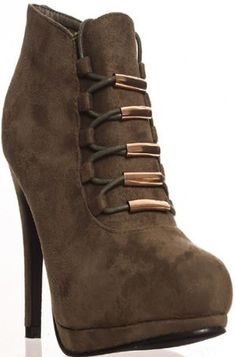 ZAZU WOMEN'S HIGH HEEL SUEDE BOOTS