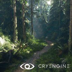 CryEngineV - Lighting & forest study (again...), Finn Meinert Matthiesen on ArtStation at https://www.artstation.com/artwork/51onP