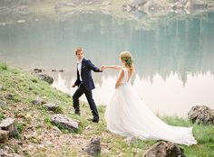 Stunning Bridal Shoot In The Italian Dolomites via Magnolia Rouge