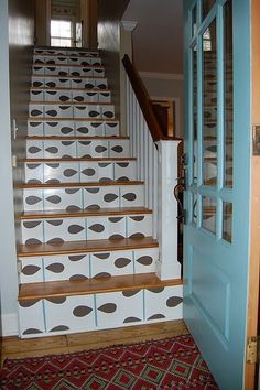 Graphic Stair Riser Treatment - (from Birds Of A Feather)
