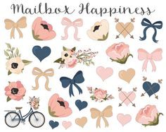 Decorative Stickers Erin Condren Bow Stickers par MailboxHappiness