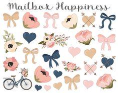 Decorative Stickers Erin Condren Bow Stickers par MailboxHappiness
