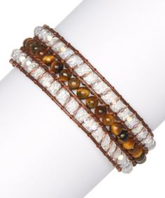 Look at this Pavcus Designs Tiger Eye Beaded Adjustable Bracelet on #zulily today!