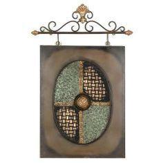 "Graphics International A7010 Brown And Sage Toned Metal Wall Decor With Rod - 18 X 30 Inches by Graphics International. $63.34. Finish: Brown and Sage.. Satisfaction Ensured.. Brown and Sage Toned Metal Wall Decor with Rod.. Dimensions: 18 W x 30 H x 1D.. Metal Wall Sculpture.. Brown and Sage Toned Metal Wall Decor with Rod. Metal Wall Sculpture. Finish: Brown and Sage. Dimensions: 18"" W x 30"" H x 1""D. Satisfaction Ensured. Always a great way to show off your personal sense of..."
