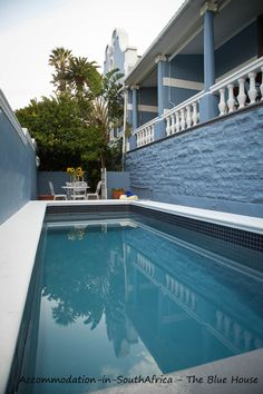 Beautiful pool at The Blue House guest house. Cape Town Accommodation. Accommodation in Cape Town. The Blue House Cape Town. Guest House Cape Town.