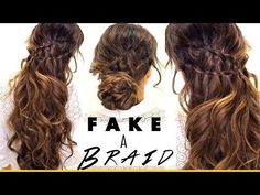 Ah-hah.This I can do and it is cute -- Fake Ladder-Braids for Medium Long Hair Easy Hairstyles For Medium Hair, Work Hairstyles, Easy Hairstyles For Long Hair, Pretty Hairstyles, Braided Hairstyles, Updos Hairstyle, Heatless Hairstyles, Bun Updo, Hairstyle Short