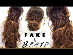 Ah-hah.This I can do and it is cute -- Fake Ladder-Braids for Medium Long Hair Medium Hair Braids, Easy Hairstyles For Medium Hair, Medium Long Hair, Work Hairstyles, Long Braids, Quick Hairstyles, Pretty Hairstyles, Medium Hair Styles, Braided Hairstyles