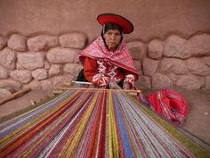 Photo: Weaver at the Alpaca center in Peru