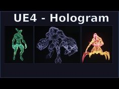 Hologram Material Tutorial - Unreal Engine 4 - YouTube Diy Jewelry Holder, Earring Holders, Small Business Web Design, Craft Booth Displays, Cover Letter For Resume, Cover Letters, Video Game Development, Architecture Tattoo, Unreal Engine