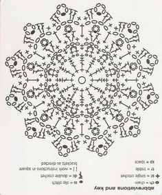 Discover thousands of images about Revista 201 Crochet. D'un punt alt a mil cent deu Crochet Stars, Crochet Circles, Crochet Snowflakes, Crochet Diagram, Crochet Stitches Patterns, Crochet Round, Thread Crochet, Crochet Crafts, Crochet Doilies