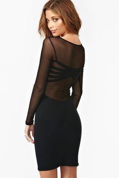 black and sheer and interesting back = perfect LBD